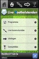 Screenshot of Live Voetbal Standen