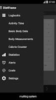 Screenshot of Diet, Weight Diary, Body Log