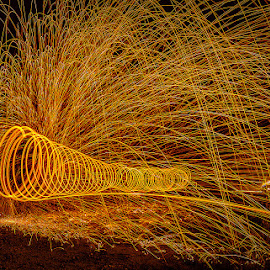 The Tunnel by Adrian Choo - Abstract Light Painting ( steel wool, d7000, penang, light, fire )