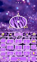 Screenshot of GO Keyboard Luxury Purple