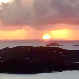 Sunset Charlotte Amalie by Adlah Donastorg - Instagram & Mobile iPhone ( waterscape, sunsets, sea, beauty in nature, landscape )