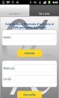 Screenshot of Ritenuta d'Acconto & IVA