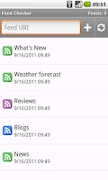 Screenshot of RSS reader - Feed Checker