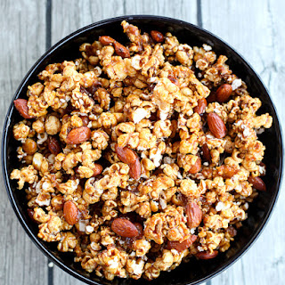 Spiced Caramel Popcorn and Nut Mix