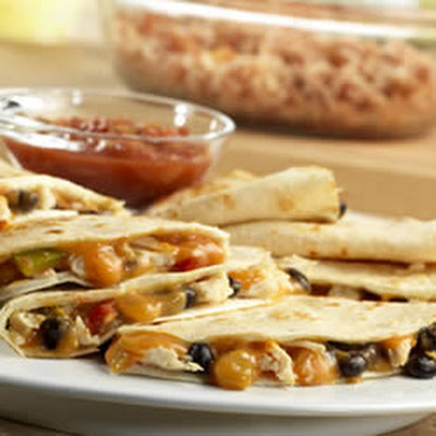 Campbell's Kitchen Chicken and Black Bean Quesadillas