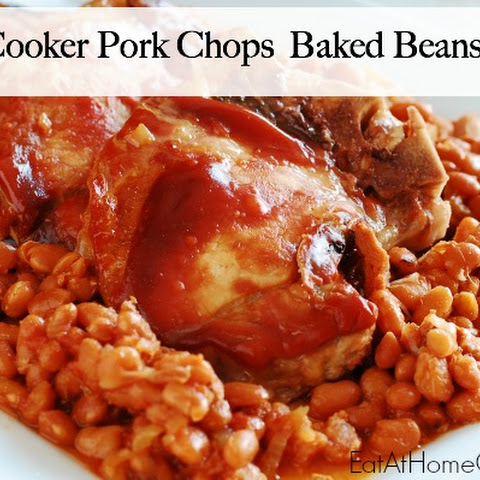 Slow Cooker Pork Chops and Baked Beans