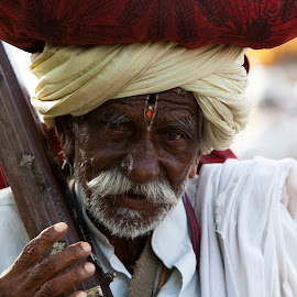 The Old Man by Umesh Patil - People Portraits of Men