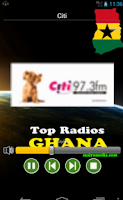 Screenshot of Top Radios Ghana