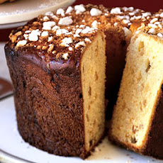Saffron Panettone with Crushed Sugar Topping