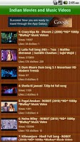 Screenshot of Indian Movies and Music Videos