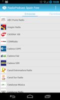 Screenshot of RadioPodcast Spain Free