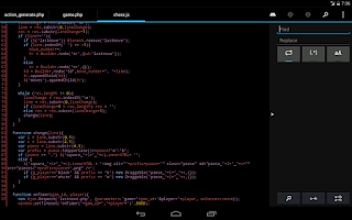 Screenshot of DroidEdit (free code editor)