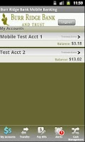Screenshot of Burr Ridge Bank Mobile Banking