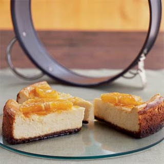 Orange-Glazed Cheesecake with Gingersnap Crust