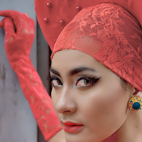 Lady in Red.... by Joni Alir - People Portraits of Women