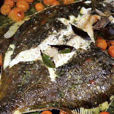 River Cottage's Roasted Whole Plaice with Cherry Tomatoes