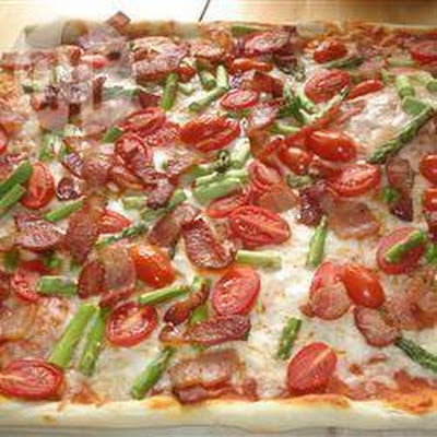 Pizza met Bacon, Asperges en Geitenkaas