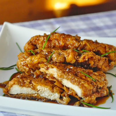 Double Crunch Honey Garlic Chicken