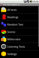 Screenshot of Test Your English III.