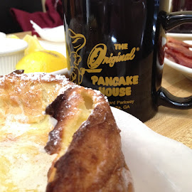 Dutch Baby at the OHOP by Laurie Higgins - Food & Drink Plated Food ( coffee, dutch baby, ohop, pancake )