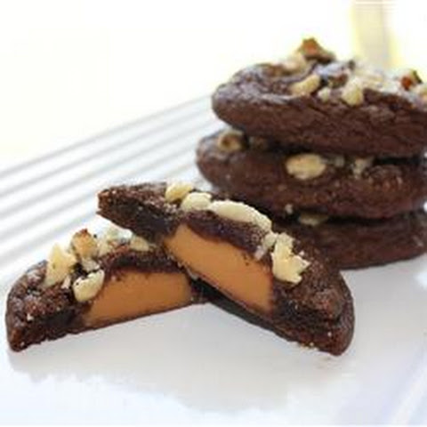 Caramel Filled Chocolate Cookies