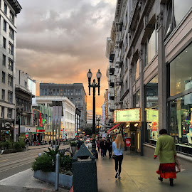 Union Square, San Francisco, CA by Ashley Madich - City,  Street & Park  Street Scenes