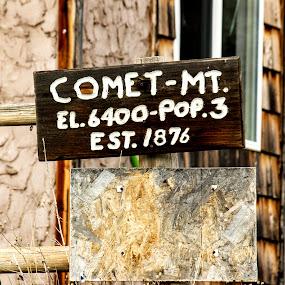 Population: 3 by Denver Pratt - Artistic Objects Signs