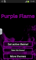 Screenshot of Purple Flame GO Keyboard