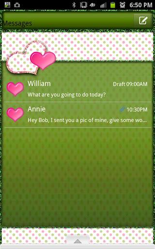 GO SMS - Polka Dot Hearts