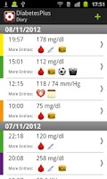 Screenshot of Diabetes Plus