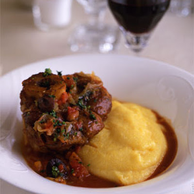 Osso Buco with Tomatoes, Olives, and Gremolata