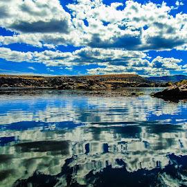 Lake Reflection  by Stephen Schwartzengraber - Landscapes Waterscapes ( clouds, waterscape, arizona, reflections, lake, landscape )