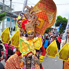'gunungan' by Robert Antonius - Artistic Objects Clothing & Accessories ( javanesse, indonesia tourism, puppet, gunungan, wayang, fashion, urban portrait, urban fashion, unique outfit )
