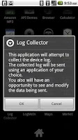 Screenshot of Log Collector