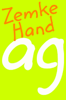 Screenshot of Zemke Hand FlipFont