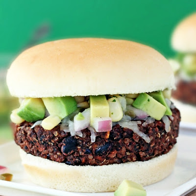 Black Bean & Sweet Potato Quinoa Burgers