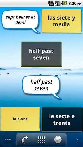 A Fuzzy Clock Multilanguage