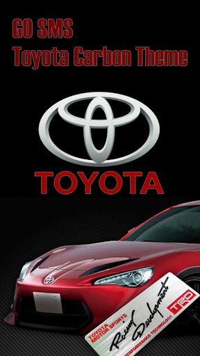 GO SMS PRO Toyota Carbon Theme