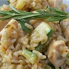 Paella With Chicken, Zucchini and Rosemary