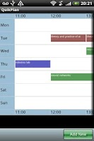 Screenshot of QuikPlan Timetable organizer