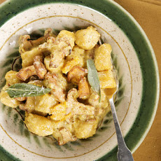 Pumpkin Gnocchi with Mushrooms
