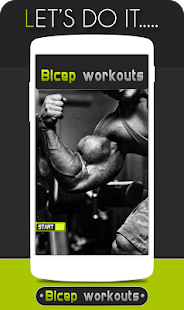 Bicep Workouts Fitness app screenshot 1 for Android