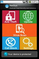 Screenshot of Netlux Mobile Security