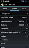 Screenshot of Stat Calculator