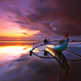 Boat reflection by Nghcui Agustina - Transportation Boats