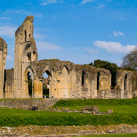 Glastonbury Abbey by Zoot The-Tog - Buildings & Architecture Places of Worship ( history, ruin, glastonbury, arches, sandstone, worship, abbey )