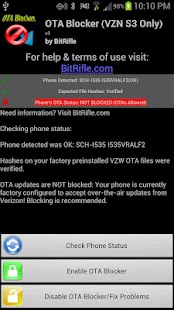 OTA Blocker ☆ VZW Galaxy S3 - screenshot