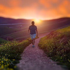 My daily walk by Apollo Reyes - Instagram & Mobile iPhone ( sky, grass, sunset, trail, meadows, sunrise, dusk, hiking,  )