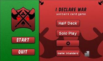 Screenshot of I Declare War: Solitaire Free
