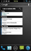 Screenshot of Agenda Widget Plus